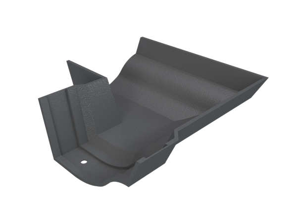 Cast Iron Plain No46 90 Deg External Angle-Primed