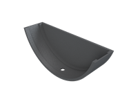 Cast Iron Plain Half Round Stopend External-Primed