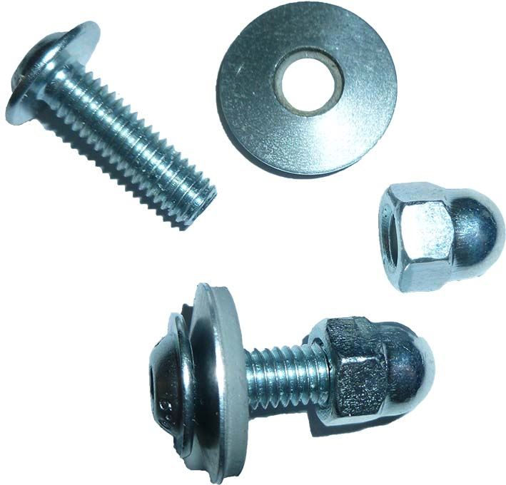 M mm nut bolt washer for use with cast iron