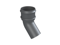 Cast Iron No46 Round Downpipe 135 Deg Bend-Primed