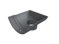 Cast Iron Plain Half Round Dropend Outlet External-Primed